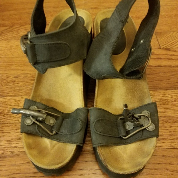 a3ef66af71fd Hand made Shoes - SPANISH made wood block Wedge sandals.